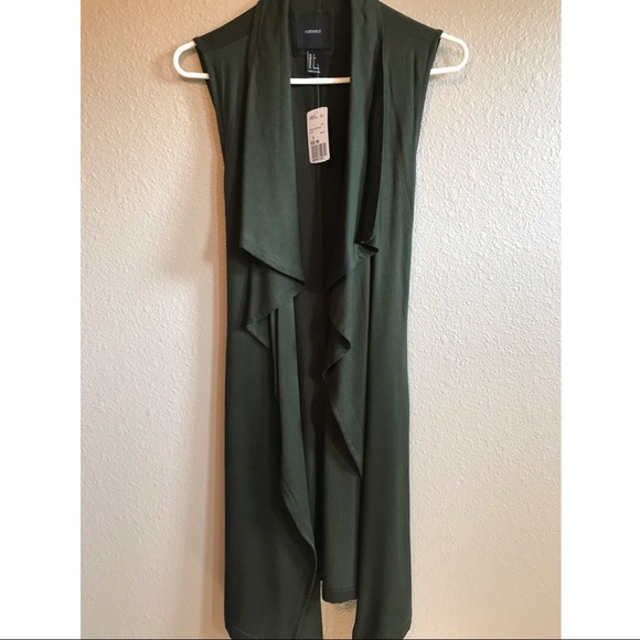 Forever 21 Jackets & Blazers - Olive colored long vest size small